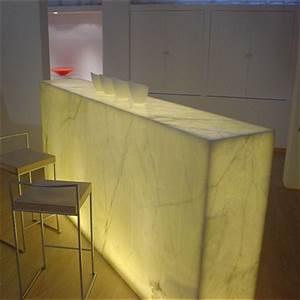 White Onyx Bar Counter
